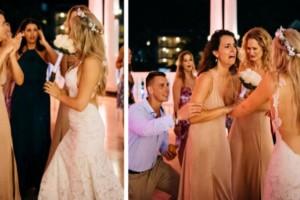Νύφη ετοιμάζεται να πετάξει την γαμήλια ανθοδέσμη. Αυτό που κάνει στη συνέχεια, συγκλονίζει συγγενείς και καλεσμένους