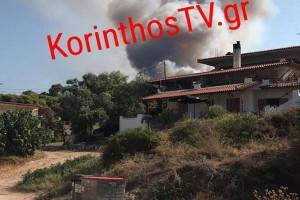 Τεράστια φωτιά στην Άνω Αλμυρή Κορινθίας: Μήνυμα του 112 σε κατοίκους στο χωριό Ρυτό να εκκενώσουν άμεσα