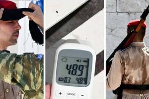 """""""Λιώνουν"""" οι Εύζωνες στο Σύνταγμα - Στους 48,9 βαθμούς """"τερμάτισε"""" το θερμόμετρο - Τι προβλέπουν 3 κορυφαίοι μετεωρολόγοι;"""