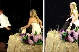 Κατά τη διάρκεια του γάμου τους, ο γαμπρός σηκώθηκε και άρχισε να τρέχει! Πάνω στην ώρα! Δείτε γιατί… (Βίντεο)