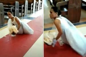 Γεννήθηκε χωρίς πόδια - 27χρονη νύφη συγκλονίζει την ημέρα του γάμου της (Video)