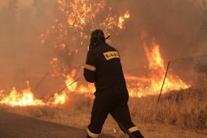Φωτιά στην Εύβοια: Οι φλόγες κύκλωσαν τους πυροσβέστες - Τρεις τραυματίες