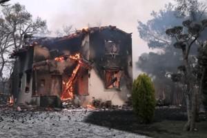 Φωτιά Βαρυμπόμπη: Πολίτης κατήγγειλε ότι άγνωστοι υποδύθηκαν τους άνδρες της Πολιτικής Προστασίας και παραβίασαν το σπίτι του