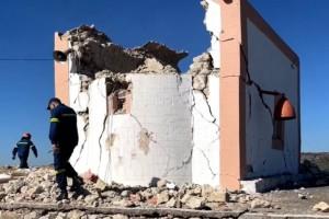 Σεισμός στην Κρήτη: Νεκρός ο πατέρας, τραυματίας ο γιος στο εκκλησάκι που κατέρρευσε στο Αρκαλοχώρι