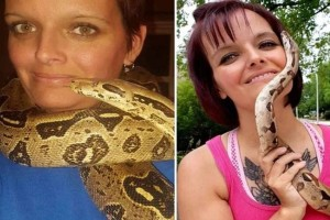 Βρέθηκε νεκρή ανάμεσα σε 140 φίδια με έναν πύθωνα τυλιγμένο στον λαιμό της