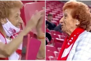 Ολυμπιακός: 92χρονη γυναίκα οπαδός εμβολιάστηκε για να βλέπει την ομάδα στο Καραϊσκάκη