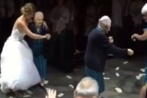 Το βαρύ ζεϊμπέκικο 98χρονης Ελληνίδας γιαγιάς στον γάμο της εγγονής της!