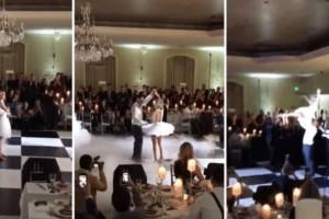 Γαμπρός και νύφη χορεύουν το «Dirty Dancing» και εκπλήσσουν τους καλεσμένους τους! (video)