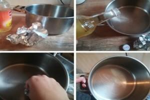 Ρίχνει μηλόξυδο σε μια κατσαρόλα και την τρίβει με αλουμινόχαρτο - Ο καλύτερος τρόπος για...