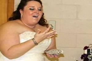 Νύφη έμεινε μισή μετά το γάμο - Οι φωτογραφίες με το νυφικό της σοκάρουν (photos)