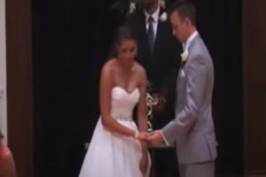 Ο γαμπρός βλέπει τη νύφη να φεύγει και μένει άναυδος - Η συνέχεια σοκάρει (Video)