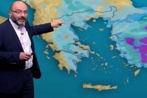 Σάκης Αρναούτογλου: Προειδοποιεί για τον μεσογειακό κυκλώνα - Ποιες περιοχές θα χτυπήσει