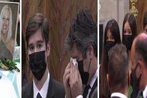 Κηδεία Φώφης Γεννηματά: Με βουρκωμένα μάτια και το κεφάλι σκυφτό ο άντρας και τα παιδιά της - «Τσακίζουν» κόκαλα οι συγκηνιτικές στιγμές (Video)