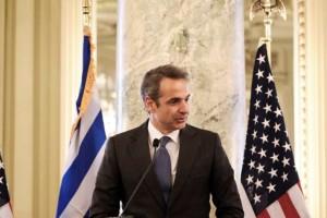 Κυριάκος Μητσοτάκης: «Υποδέχομαι με αίσθημα ευθύνης τη νέα πενταετή συμφωνία με τις ΗΠΑ»