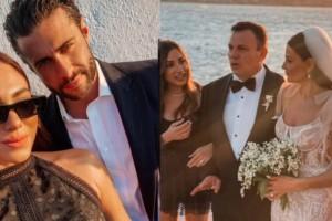 Κόλασε τη Μύκονο η Ευρυδίκη Βαλαβάνη - Το φόρεμα που επέλεξε να φορέσει σε γάμο στο πλευρό του Βασάλου