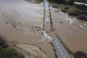 Κακοκαιρία «Μπάλλος» - Σέρρες: Υπερχείλισε ποταμός στη Βέργη