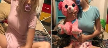 """Μάλιστα: Ολόκληρη """"γαϊδούρα"""" ντύνεται και ζει σαν μωρό γιατί είχε δύσκολη παιδική ηλικία! (photos+video)"""