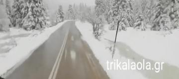 Χειμωνιάτικο το τοπίο στα Τρίκαλα! - Στους 80 πόντους το χιόνι! (Video)