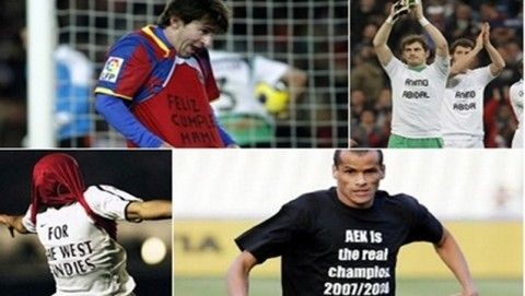 Όταν οι ποδοσφαιριστές μιλάνε με τα μπλουζάκια τους!!(PHOTOS)