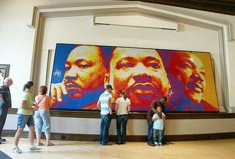 Πορτραίτο του Martin Luther King από 4242 κύβους του Rubik(PHOTOS)