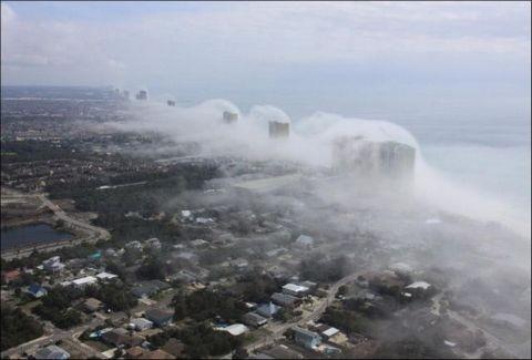 ΣΥΓΚΛΟΝΙΣΤΙΚΟ: Aχνίζουν οι ουρανοξύστες! Δείτε ένα εντυπωσιακό μετεωρολογικό φαινόμενο!
