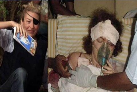 ΣΚΛΗΡΕΣ ΕΙΚΟΝΕΣ:Η σορός της νεκρής δημοσιογράφου Μαρί Κόλβιν(VIDEO)
