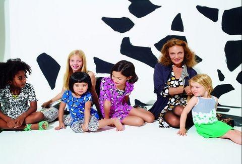 Η Diane von Furstenberg, υπογράφει την παιδική και βρεφική σειρά της Gap !