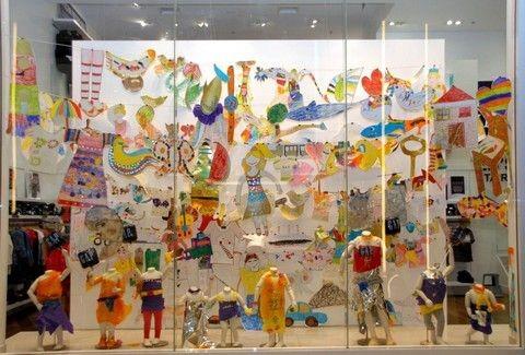 136 έργα, 136 ευχαριστώ, 136 μελλοντικοί καλλιτέχνες στη βιτρίνα των Gap