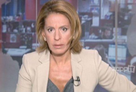 Η Όλγα Τρέμη… «κόλλησε» χθες στο κεντρικό δελτίο ειδήσεων!