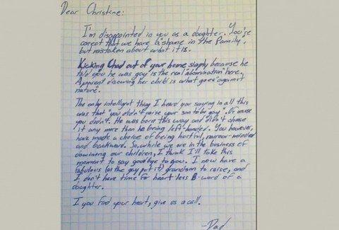 Διαβάστε το ΣΥΓΚΛΟΝΙΣΤΙΚΟ γράμμα ενός παππού για τον Gay εγγονό του που κάνει το ΓΥΡΟ του ΔΙΑΔΙΚΤΥΟΥ!!!