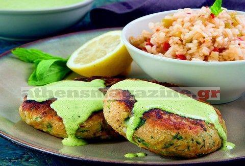 Μπιφτέκια λαχανικών με πικάντικο ρύζι αρωματισμένα με δυόσμο!