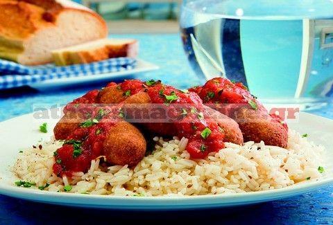 Σουτζουκάκια με τόνο και ρύζι basmati