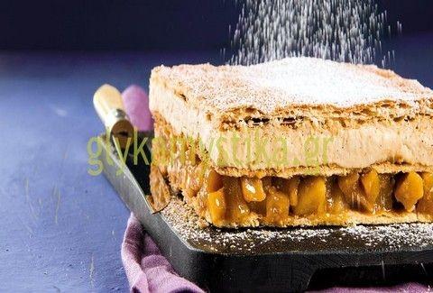 Μιλφέιγ με κρέμα βανίλιας & καραμελωμένα αχλάδια