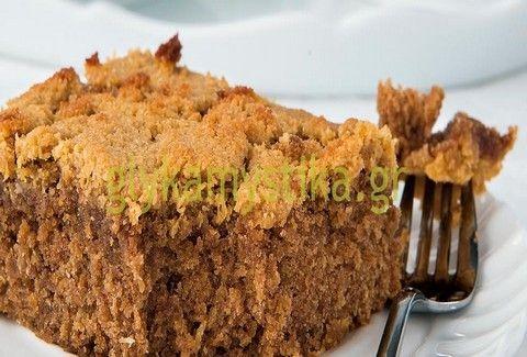 Light κέικ με καρύδα & βρόμη