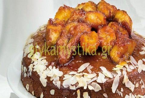 Κέικ μελιού με μπανάνες
