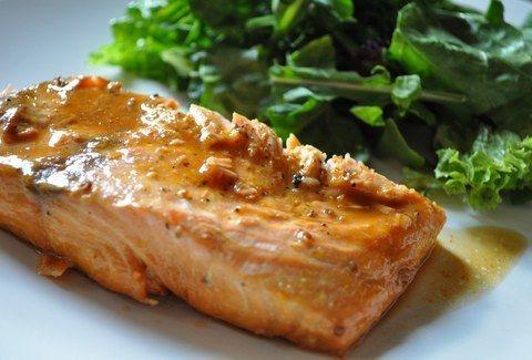 Τι θα φάτε απόψε;;; Σολωμό με σάλτσα μουστάρδα και πράσινη σαλάτα!!!