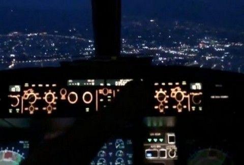 ΕΚΠΛΗΚΤΙΚΟ!!! ΔΕΙΤΕ την προσγείωση αεροπλάνου μέσα από το πιλοτήριο!!! (VIDEO)