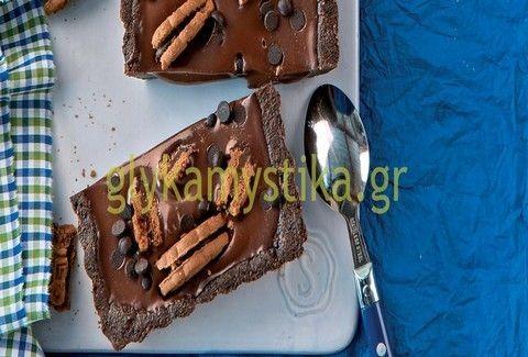 Τάρτα σοκολάτας με γεμιστά μπισκότα! - Τι πιο ΛΑΧΤΑΡΙΣΤΟ;