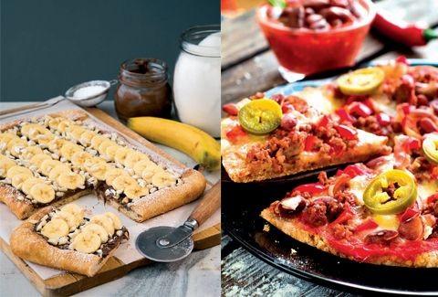 Μουντιαλικές συνταγές για πίτσα: Βραζιλία - Μεξικό ή Πίτσα µε πραλίνα vs Πίτσα µε κιµά, κόκκινα φασόλια & πιπεριές!
