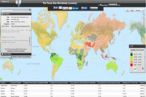 Το μέγεθος του πέους στον κόσμο: Κάνε κλικ και δες τα