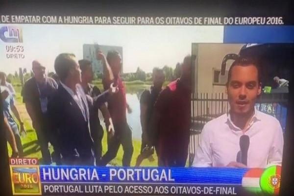 Πολλά νεύρα ο Κριστιάνο! Πέταξε σε λίμνη το μικρόφωνο δημοσιογράφου μετά από ερώτηση (VIDEO)