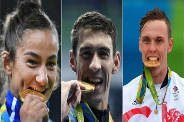 Για ποιον λόγοι οι αθλητές δαγκώνουν τα μετάλλια;