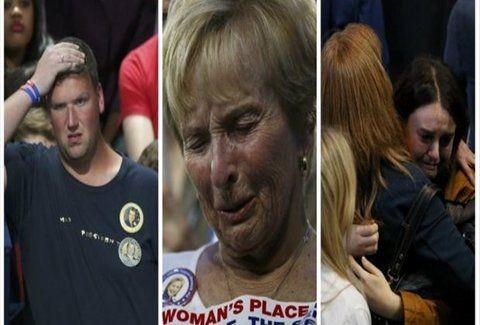 Κλάματα οπαδών της Κλίντον για τη διαφαινόμενη ήττα! (video)