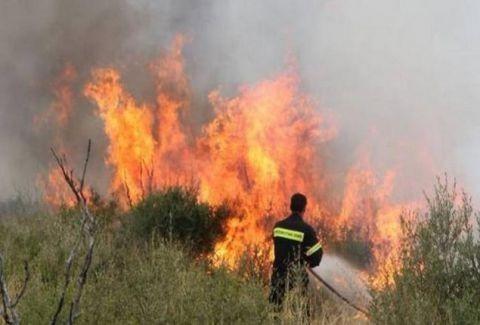 Μεγάλη φωτιά στο Λασίθι της Κρήτης!