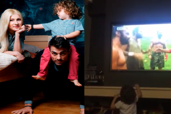 Συγκλονιστικό: Δεν φαντάζεστε τι έκανε ο γιος του Χανταμπάκη την ώρα που τον έβλεπε στην τηλεόραση! Το βίντεο που ανέβασε η γυναίκα του και συγκίνησε τους πάντες! (Video)