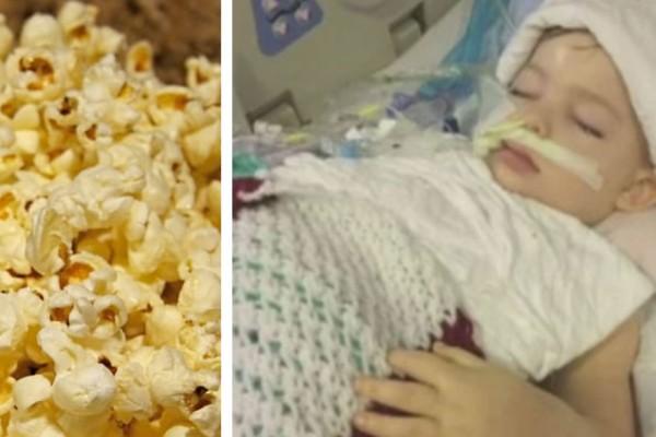 Ένα παιδί 3 ετών πνίγεται καθώς τρώει ποπ κορν. 6 μήνες μετά, οι γιατροί αναγκάζονται να του βγάλουν την μηχανική υποστήριξη! (video)