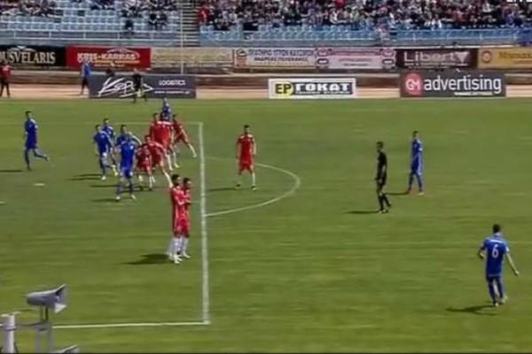 Ελλαδάρα: Μόνο πέντε παίκτες οφ σάιντ στο γκολ της Λαμίας! (video)