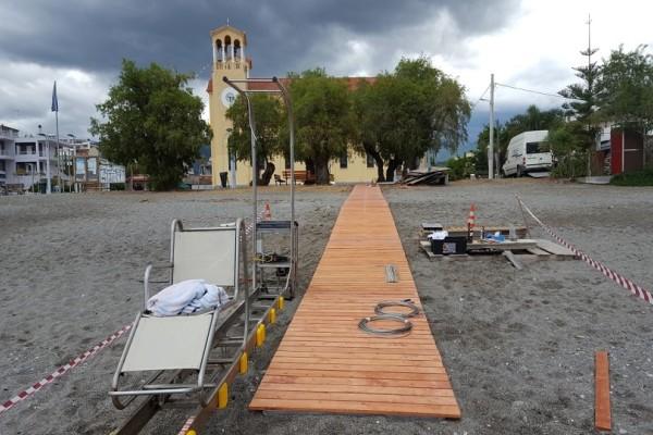 Πολλά μπράβο - Η ιδιαίτερη πρωτοβουλία σε παραλία της Καλαμάτας για άτομα με κινητικά προβλήματα (Photo)