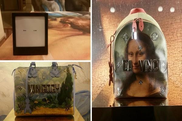 Τσάντες - έργα τέχνης:  Louis Vuitton που έχουν ζωγραφισμένη τη Μόνα Λίζα! (photos)