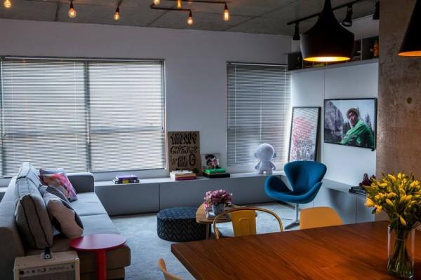 Εντυπωσιακό: Το νεανικό διαμέρισμα των 68 τ.μ. με βιομηχανικό χρώμα που έχει τρελάνει το διαδίκτυο! (photos)